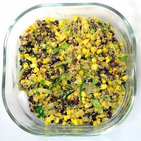 Inspired By eRecipeCards: Black Bean and Quinoa Salad - Grilling Time Side Dish
