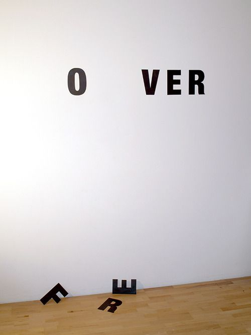 Worst way to break up with someone? Visual Poetry by Anatol Knotek.