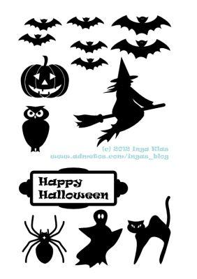 Fun Halloween Printable Silhouettes