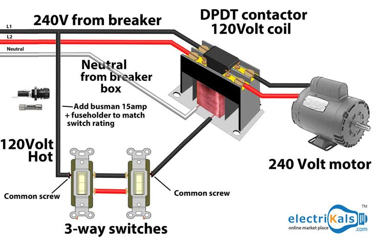 Control Motor With 2 Switches electrikals