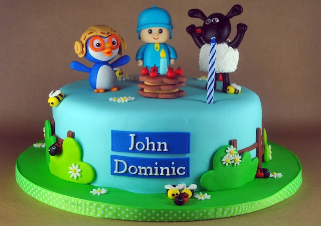 Pocoyo, Pororo, and Timmy Time Cake for John Dominic