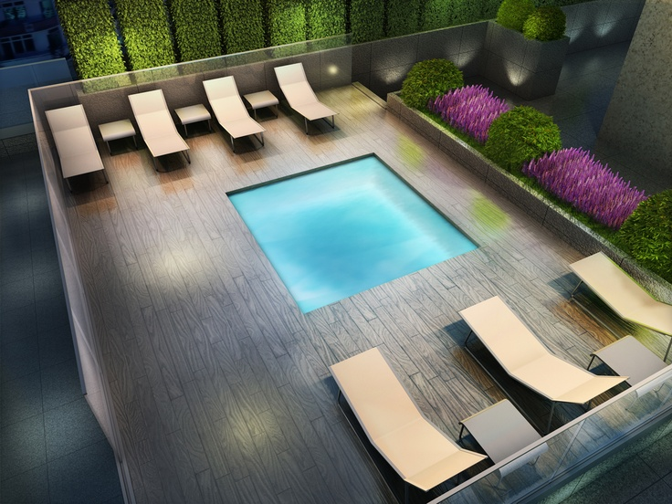 Monarch Group Picasso on Richmond - Hot Tub Rendering.