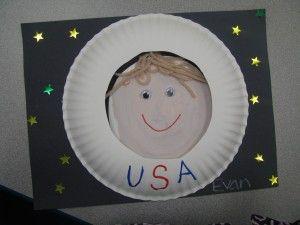 "preschool astronaut crafts, for summer camp ""Spaceship Earth"""