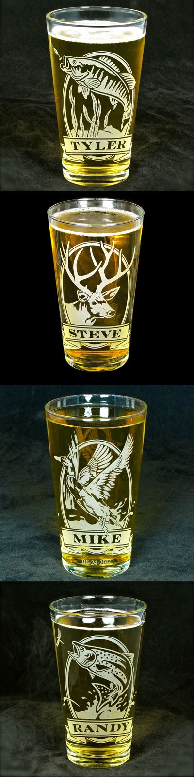 Personalized Sportsman Pint Glasses