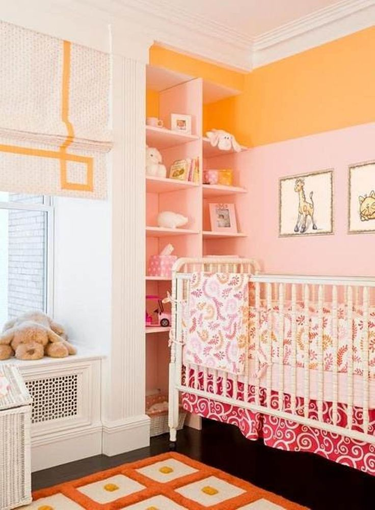 Pink And Orange Baby Room