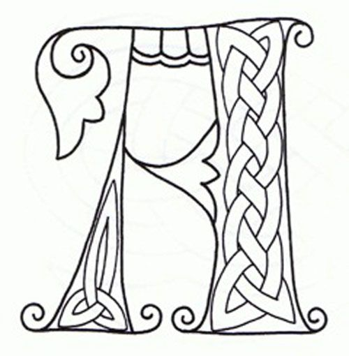Book Of Kells Coloring Pages Sketch