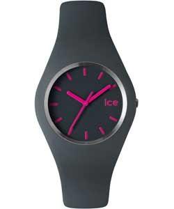 Ice Watch Grey Silicone Watch.