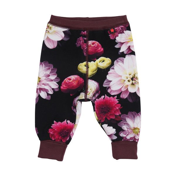 Molo Silvia Black Flowering Baby Trousers