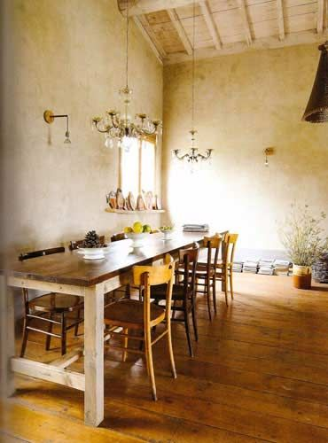 Rustic Dining Room In A Hotel Tuscany Featured Italian