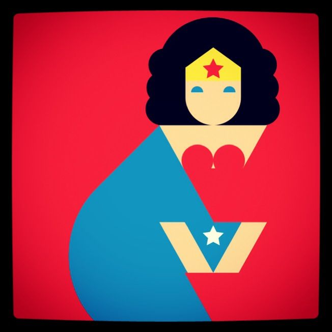 Happy (Wonder) Women's Day!  (Wonder Woman greeting card, by Maddalena Pignatiello) Coming soon - next week - on paperbanana.com/shop).