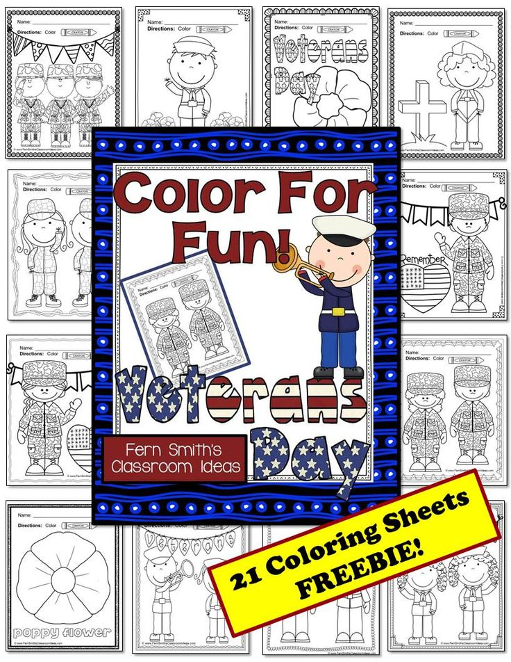 FREE Veterans Day! Use to Write Thank Yous Notes to your local Veterans! Color For Fun Printable Coloring Pages! #TPT #FREE