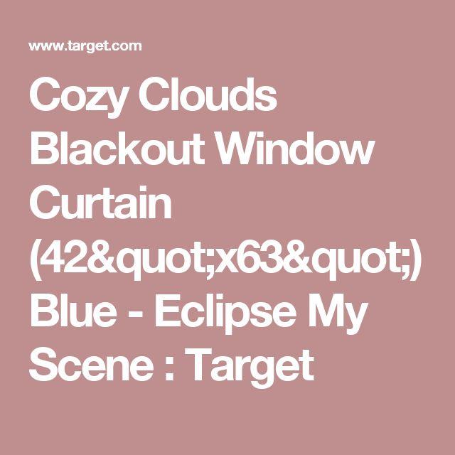 "Cozy Clouds Blackout Window Curtain (42""x63"") Blue - Eclipse My Scene : Target"