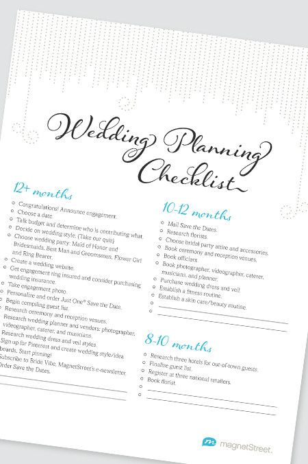 Best 25+ Checklist for wedding ideas on Pinterest List for - wedding list