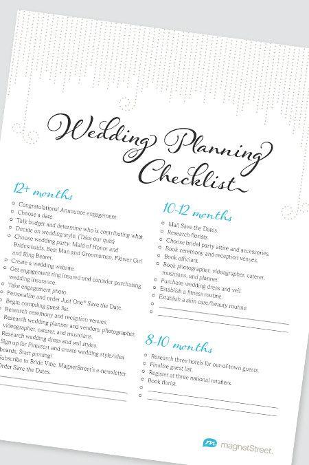 Best 25+ Checklist for wedding ideas on Pinterest List for - wedding planning checklist
