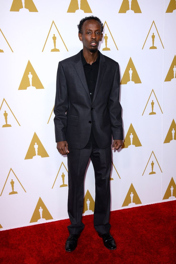 Barkhad Abdi on the Oscar nominees luncheon red carpet