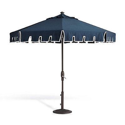 Calais Indigo Designer Umbrella - Bronze - Frontgate
