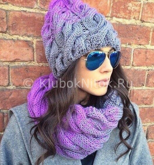 Картинки по запросу как красиво соединить два цвета ниток в вязании свитера или шапки