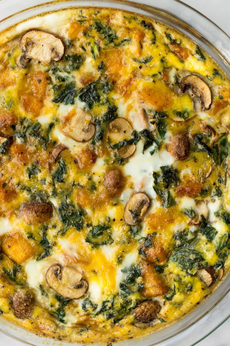 This Crustless Vegetable & Pumpkin Quiche is loaded with veggies, protein, and healthy fats and makes an easy paleo, Whole30, or vegetarian breakfast, brunch, or meal prep meal - Eat the Gains