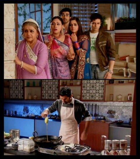 When Arnav was making #Jalebi for Khushi & his family was shocked LOL #IPKKND