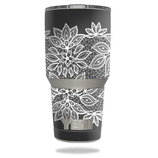 Floral lace skin design for yeti 30 oz rambler tumbler stickers
