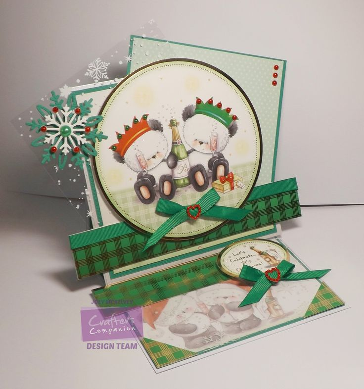 Crafter's Companion; Party Paws Christmas; CD-ROM Papercraft Kit acetate and inserts Collalls, centura pearl, coredinations, ribbon, pearls, glitter @crafterscomp