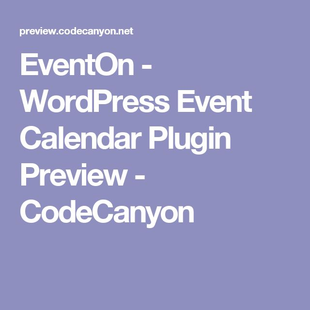 EventOn - WordPress Event Calendar Plugin Preview - CodeCanyon