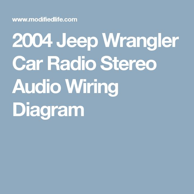 Colorful Jeep Yj Radio Wiring Diagram Pictures - Wiring Ideas For ...