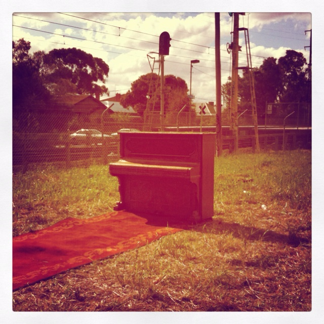There was a also a three piece band playing here alongside the railway line - Brunswick