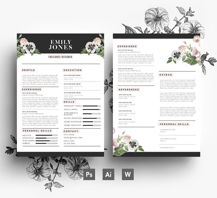 12 Best Flower Resumes Images On Pinterest | Cover Letters, Cv