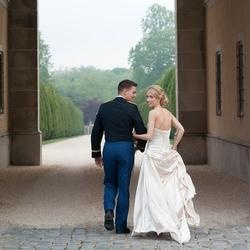 Military Wedding - I like him looking at her and her back at the camera
