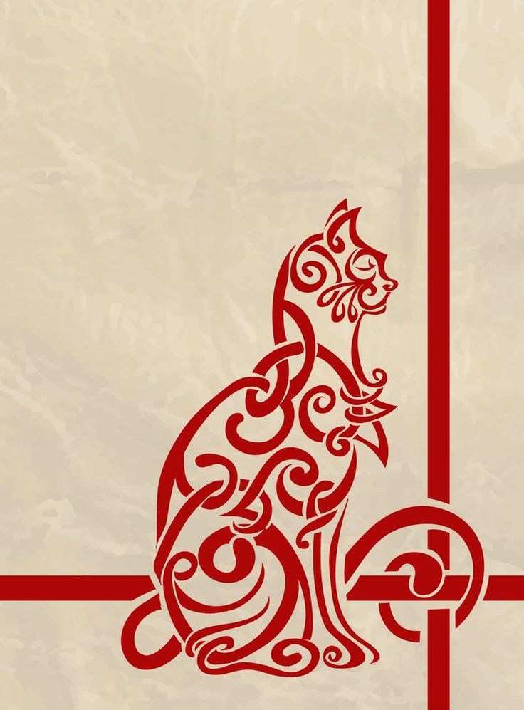 """Celtic cat by P. Sipes aka """"labrattish"""" on deviantart - @katrina coker - this reminds me of you!"""