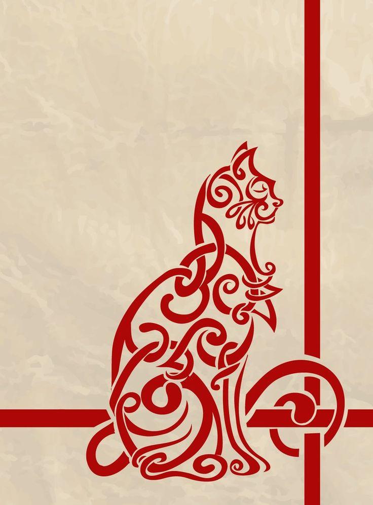 gato cruz de los elementos celta