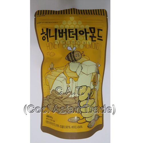 Benefits of Almonds Honey Butter Almond  Nuts korea sweet taste #Toms