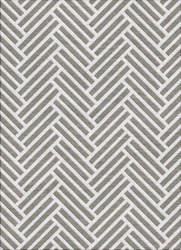Herringbone Rug - Smoked Pearl Grey
