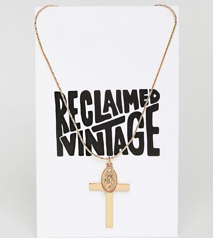 Reclaimed Vintage Inspired - Halskette mit Kreuzanhänger - Gold Jetzt bestellen unter: https://mode.ladendirekt.de/damen/schmuck/halsketten/goldketten/?uid=9b260547-e797-5fa5-9e86-3c290bca7f9a&utm_source=pinterest&utm_medium=pin&utm_campaign=boards #goldketten #schmuck #halsketten #uhren #female #ketten Bild Quelle: asos.de