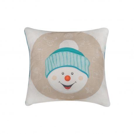 Snowman Pillow #pillow #snowman #christmas #present #interiordesign #homedeco #joy #charity #donation