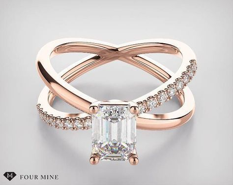 a661a42ffd0 Pave X Diamond Engagement Ring