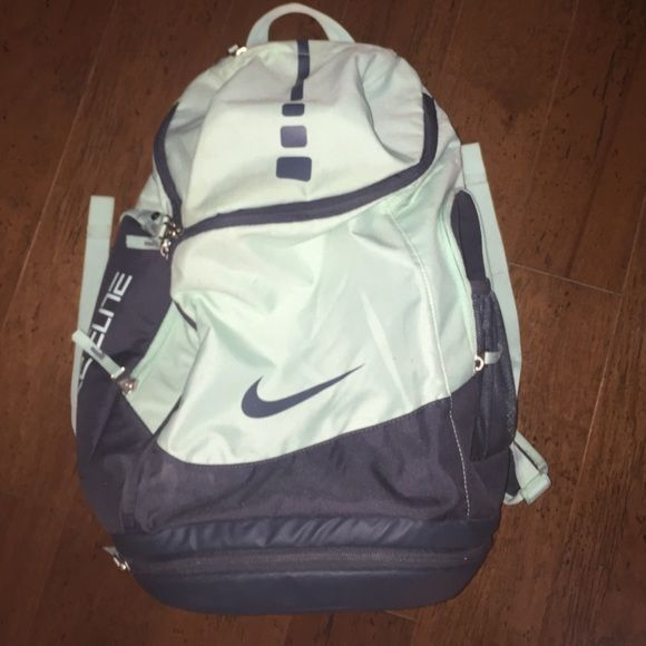 Nike Elite mint green backpack No tears; in great condition! Seeing what offers I can get before I sell Nike Bags Backpacks