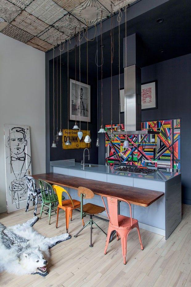 the kitchen / Loft Houssein Jarouche #Kitchen #Colorfull