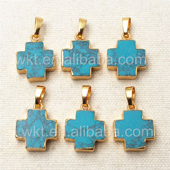 WT-P952 Thanksgiving Sale Vintage Natural Cross Turquoise