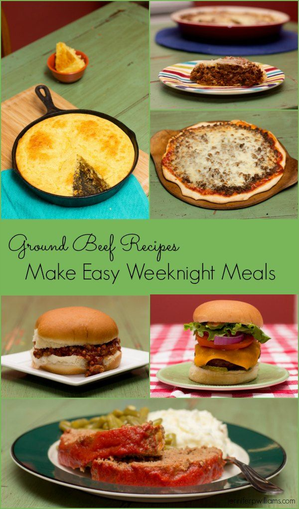 Ground beef recipes that make easy weeknight meals for Good dinner recipes with ground beef