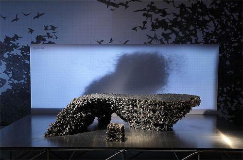 A murmuration of starlings table