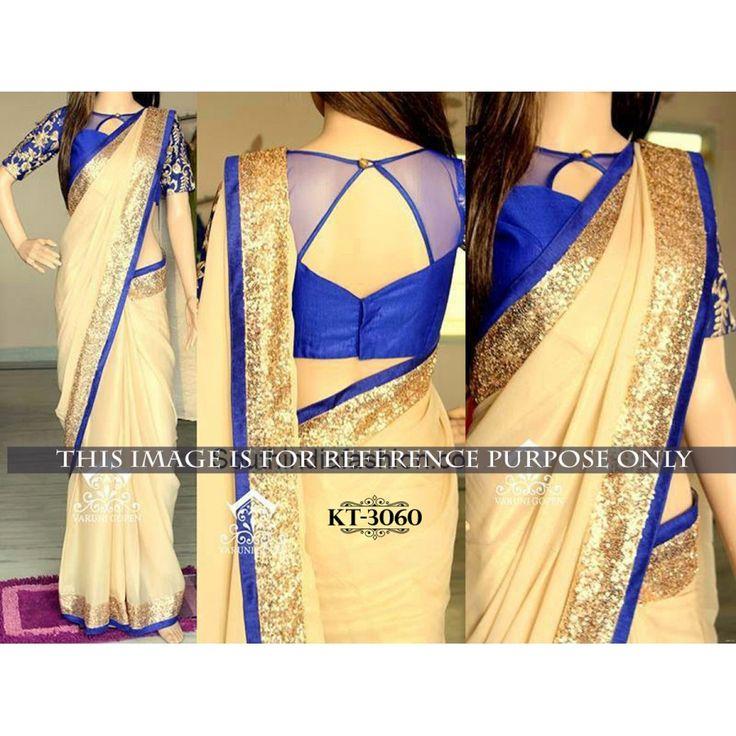 Striking Beige Color Party wear & Designer Saree at just Rs.1080/- on www.vendorvilla.com. Cash on Delivery, Easy Returns, Lowest Price.