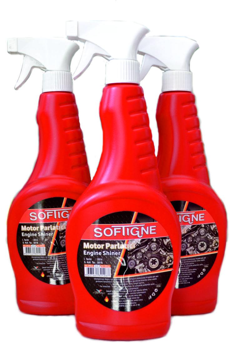 Softigne oto bakım ürünlerinden motor parlatıcı aracınızın motorunu ilk günkü görünümüne kavuşturur.Spreyli ambalajı ile de kolay kullanım sağlar.