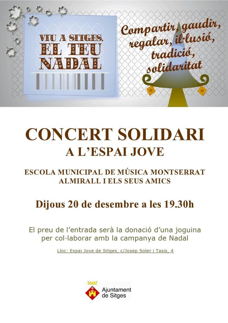 Concert a l'Espai Jove el 20 de desembre a les 19'30 h.  Un concert, una joguina.
