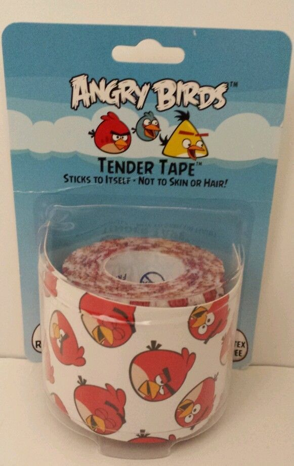 Beadshine Angry Birds 2 Inch Tender Tape Secure Dressing Over Wounds Latex Free #ASOLLC