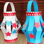 Paper Lanters for the 4th of July-Kid's CraftJuly 4Th Crafts, July Lanterns, Crafts Ideas, Paper Lanterns Fun, July Paper, 4Th Of July Crafts For Kids, Lanterns Fun Crafts, Kids Crafts Sunday Schools, Sunday Schools Ideas For Kids