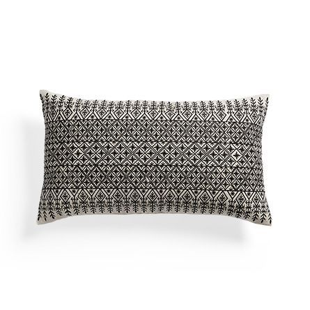 Onyx Motif Rectangular Pillow