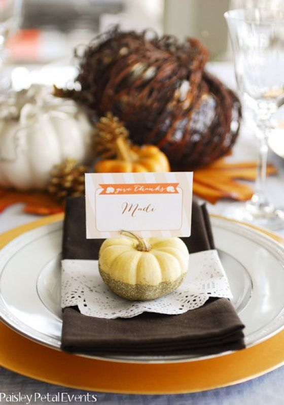 Fall Baby Shower Ideas - this is so gorgeous! I love the idea of throwing a classy fall party for a baby shower.