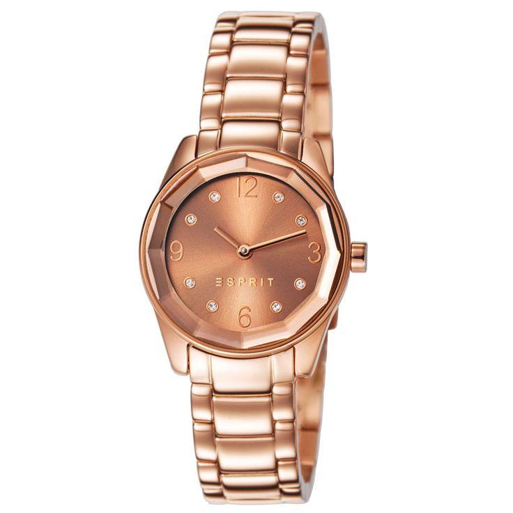 Esprit Crystal cut ES106552006 horloge rose goud | Beste prijs! http://www.kish.nl/Esprit-ES106552006-Crystal-Cut/